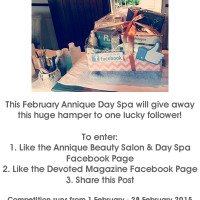February 2015 Facebook Competition Annique Day Spa