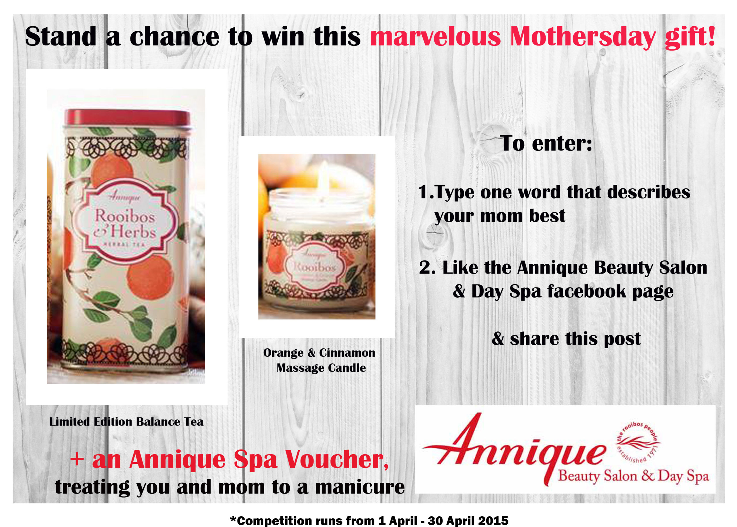 Win a marvelous Mothersday gift set for you and mom!