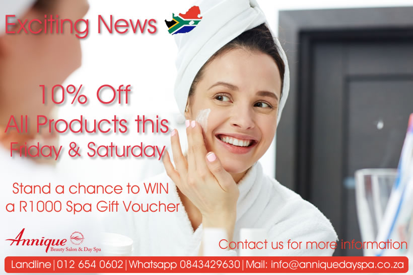 10% Discount Special May 2020- Annique Day Spa